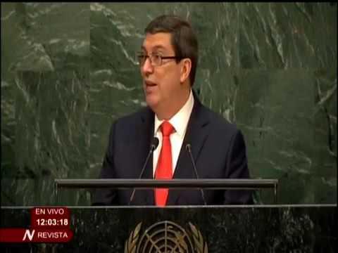 Bruno Rodríguez Parrilla en la votación en ONU