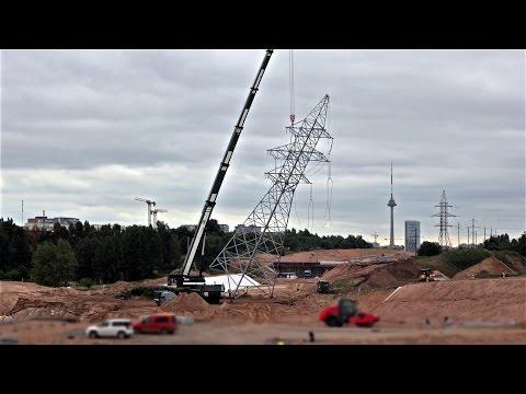 Elektros stulpų demontavimas Vilniaus vakarinio aplinkkelio trasoje