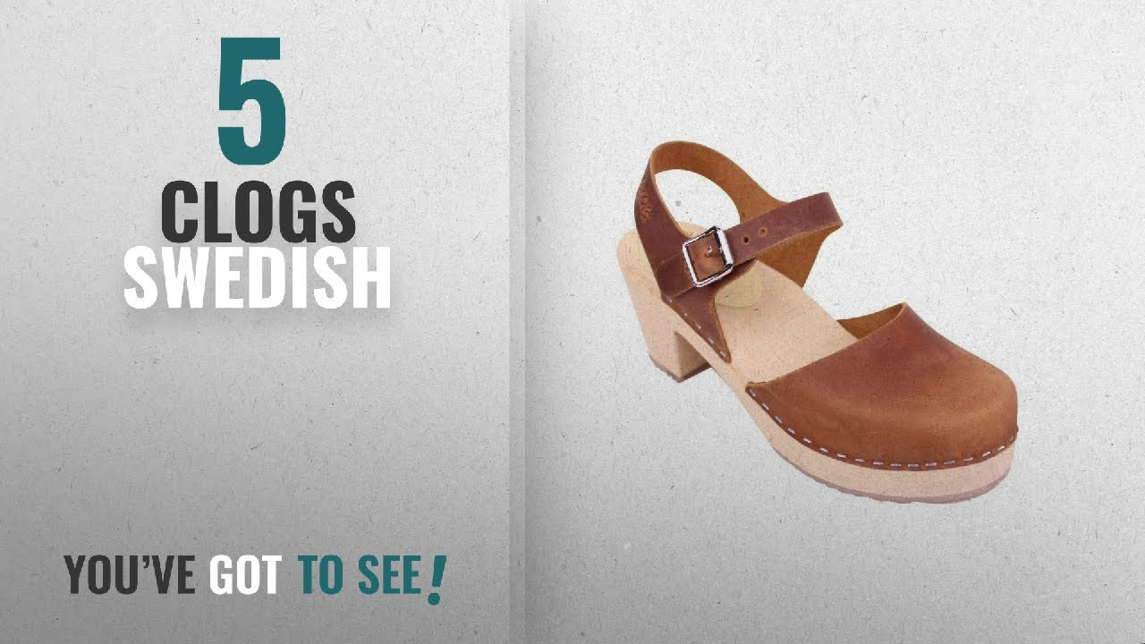 8e449cf9b156d Top 5 Clogs Swedish  2018   Lotta From Stockholm Highwood Clogs In Brown  Oiled Nubuck EUR 39