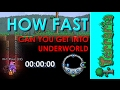 Terraria - How Fast Can You Get Into Underworld with Drill Containment Unit!