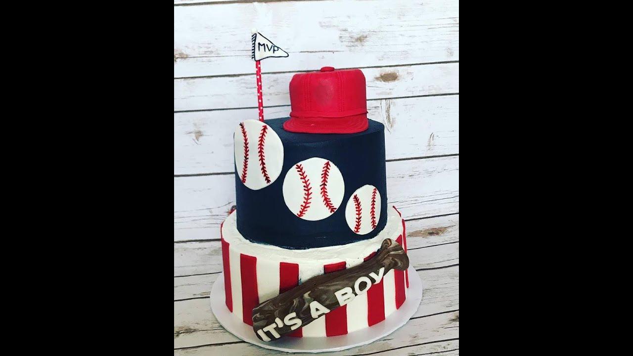 Baseball Baby Shower Cake Youtube
