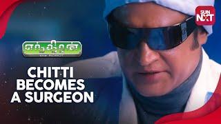 Enthiran - Chitti becomes a surgeon | Sneak Peek | Full Movie on Sun NXT | Rajinikanth
