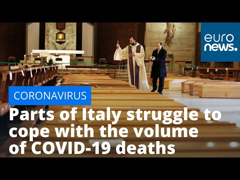 euronews (in English): Parts of Italy struggle to cope with the sheer volume of COVID-19 deaths