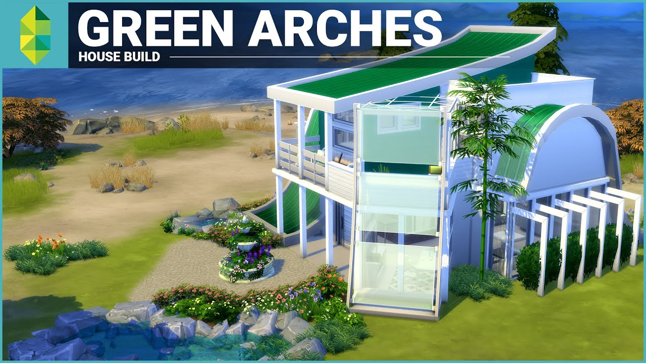 Urban treehouse sims 4 houses - The Sims 4 House Building Green Arches
