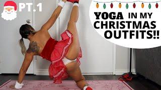 SEXY X'MAS COSTUME YOGA | CHRISTMAS YOGA EDITION!  | ESQUKI