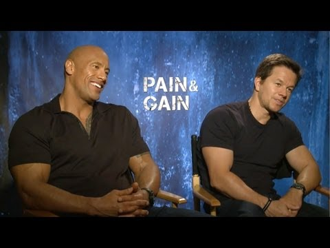 Dwayne Johnson & Mark Wahlberg - Pain & Gain Interview HD