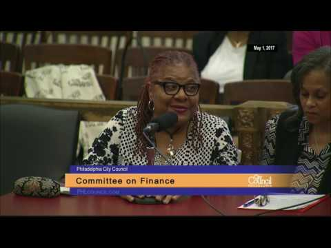 Finance Committee Discussion of Bill No. 161061 5-1-2017