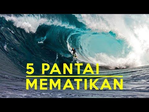 EXTREME.! 5 PANTAI SURFING OMBAK TERBESAR YANG MEMATIKAN PESELANCAR - Fakta Unik Indonesia