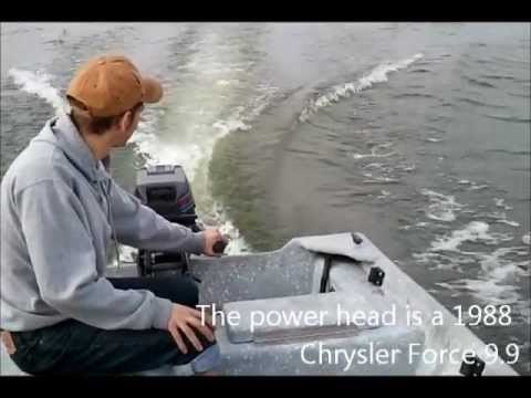 1988 Chrysler Force 9.9 on 14' Boat