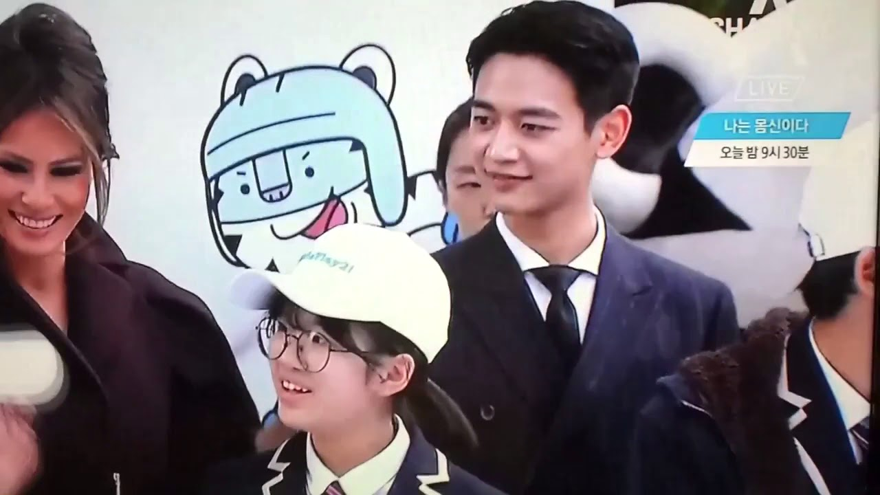 SHINee's Minho Accompany Melania Trump at Pyeongchang Winter Olympics Girls  Play 2 Campaign