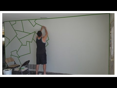 "How to Paint ""ALMOST PERFECT"" Line Patterns on Your Wall! (EASY)"