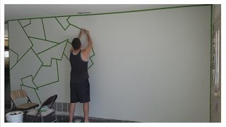"""How to Paint """"ALMOST PERFECT"""" Line Patterns on Your Wall! (EASY)"""