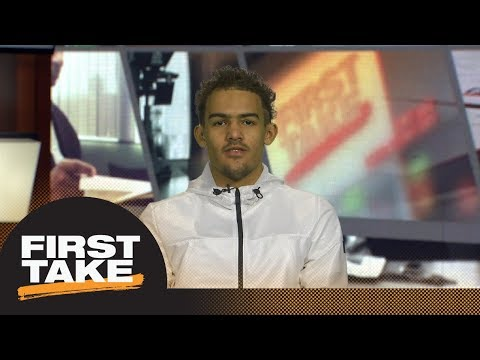 First Take interviews Trae Young after he declares for NBA draft   First Take   ESPN