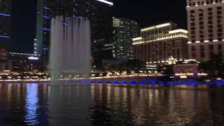 Ballagio Fountains show Las Vegas - Tiesto - Footprints - camera by IPhone X
