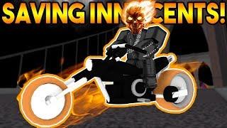 SAVING INNOCENTS AS GHOST RIDER! | ROBLOX: Super Power Training Simulator