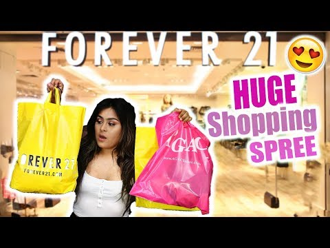 COME SHOPPING WITH ME AT FOREVER 21 SHOPAHOLIC !!