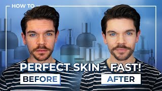 Best Products To FAKE Perfect Skin | Men