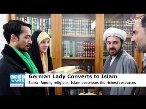 German lady converts to Shia Islam in Imam Redha's Shrine
