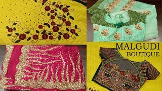 HEAVY DESIGNER SAREES-COIMBATORE - MALGUDI- BOUTIQUE - SHOPPING HAUL