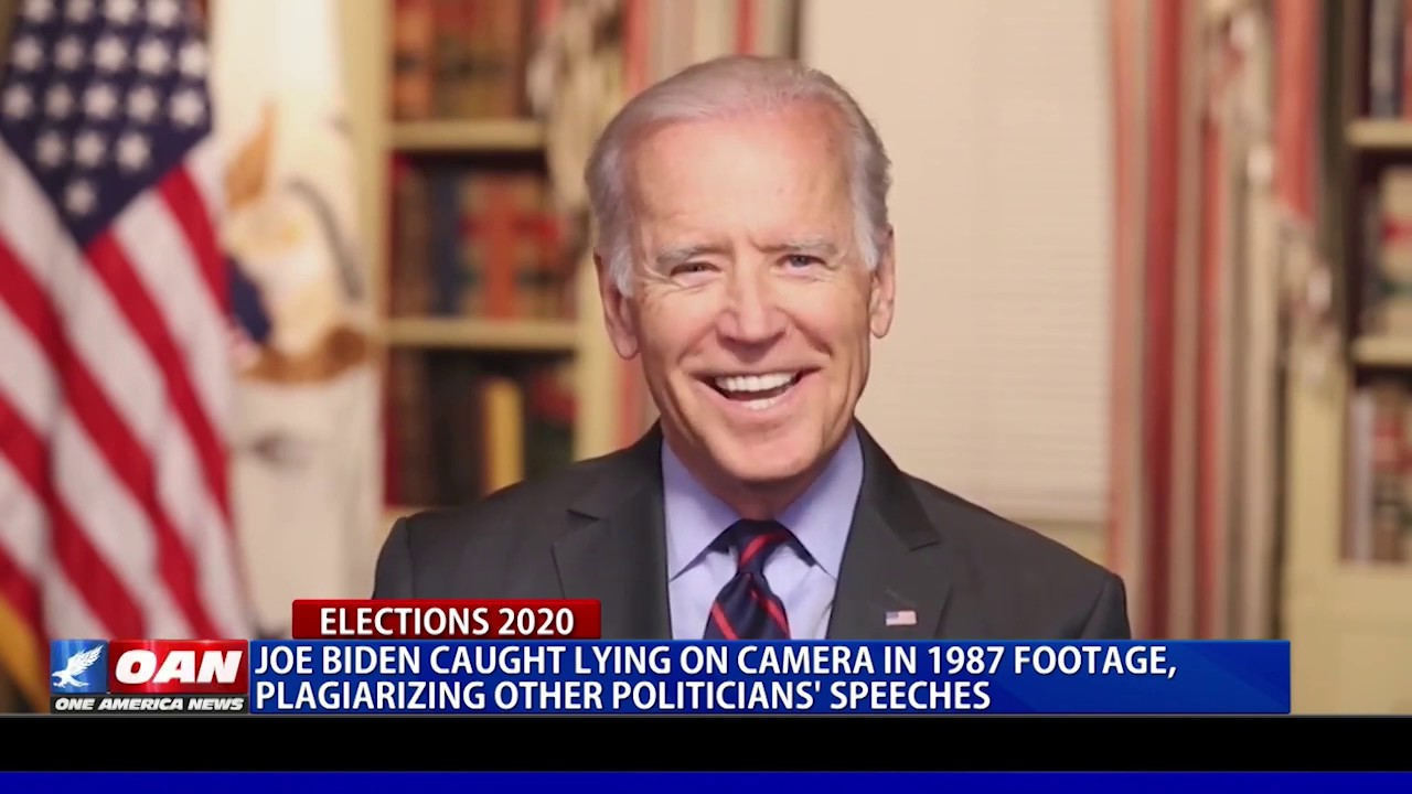 Joe Biden caught lying on camera, plagiarizing other politicians' speeches