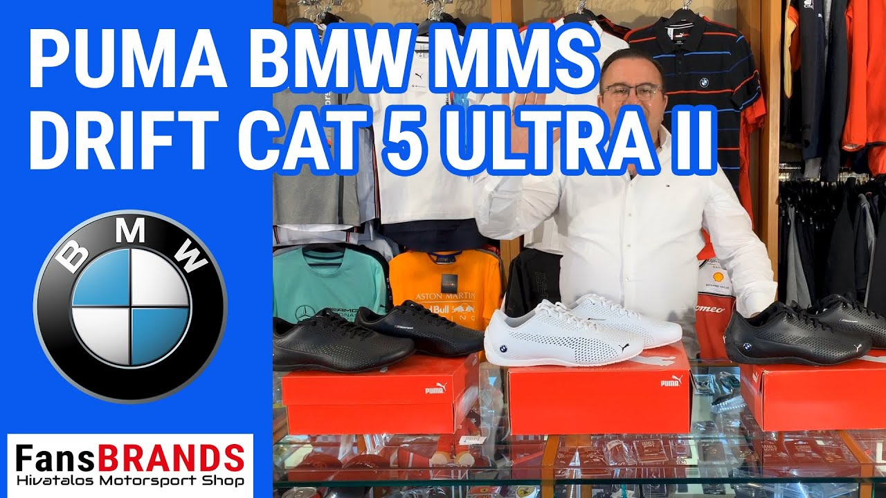 2019, Fekete, 43, Puma BMW MMS Drift Cat 5 Ultra II Cipő F