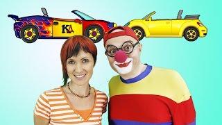Мультики для детей про дружбу. ДиМаша 3. Гонки на машинах. Маша и Клоун Дима