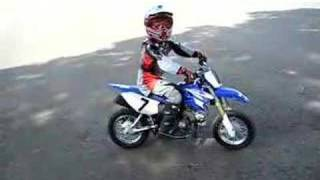 Danny's 1st practice on his new dirt bike