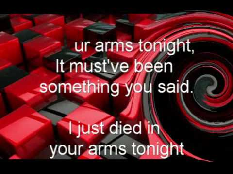 Cutting Crew, (I Just) Died In Your Arms Tonight, w/lyrics