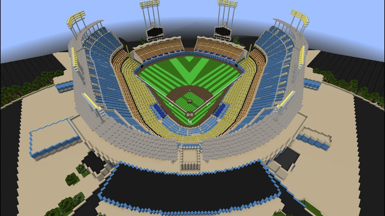 Dodger Stadium - Minecraft Creative Build - YouTube
