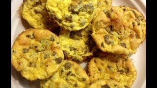 Weight Watchers Friendly Sausage Egg & Cheese Muffin Quiche Cups Recipe! One Point Each!