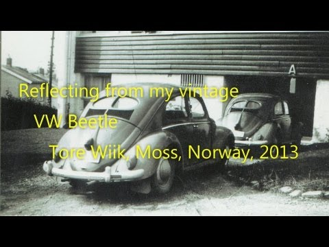 Reflections from a vintage VW Beetle