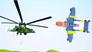 HELICOPTER VS JET FIGHTER PLANE BATTLES WITH GRAYSTILLPLAYS! - Brick Rigs Multiplayer Battles!