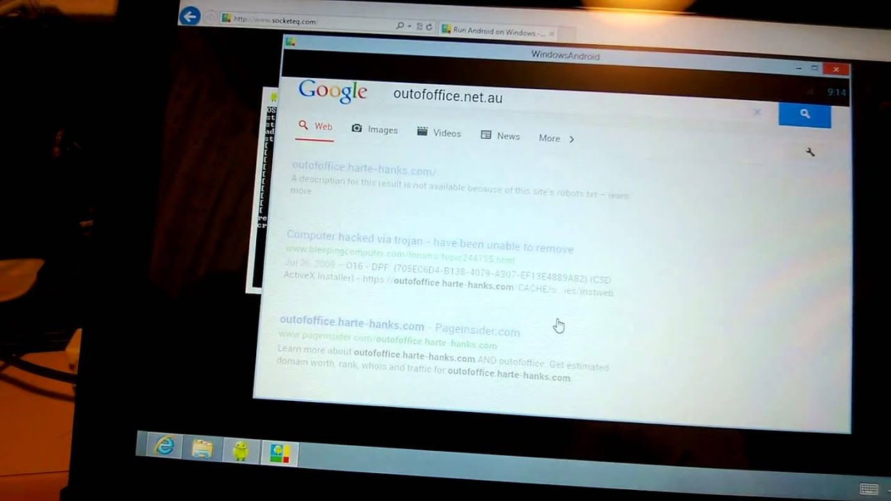Android running on a Windows 8 tablet - no dual boot, just run as an  application