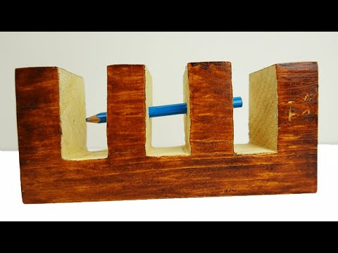 Impossible Pencil Through Wood Trick