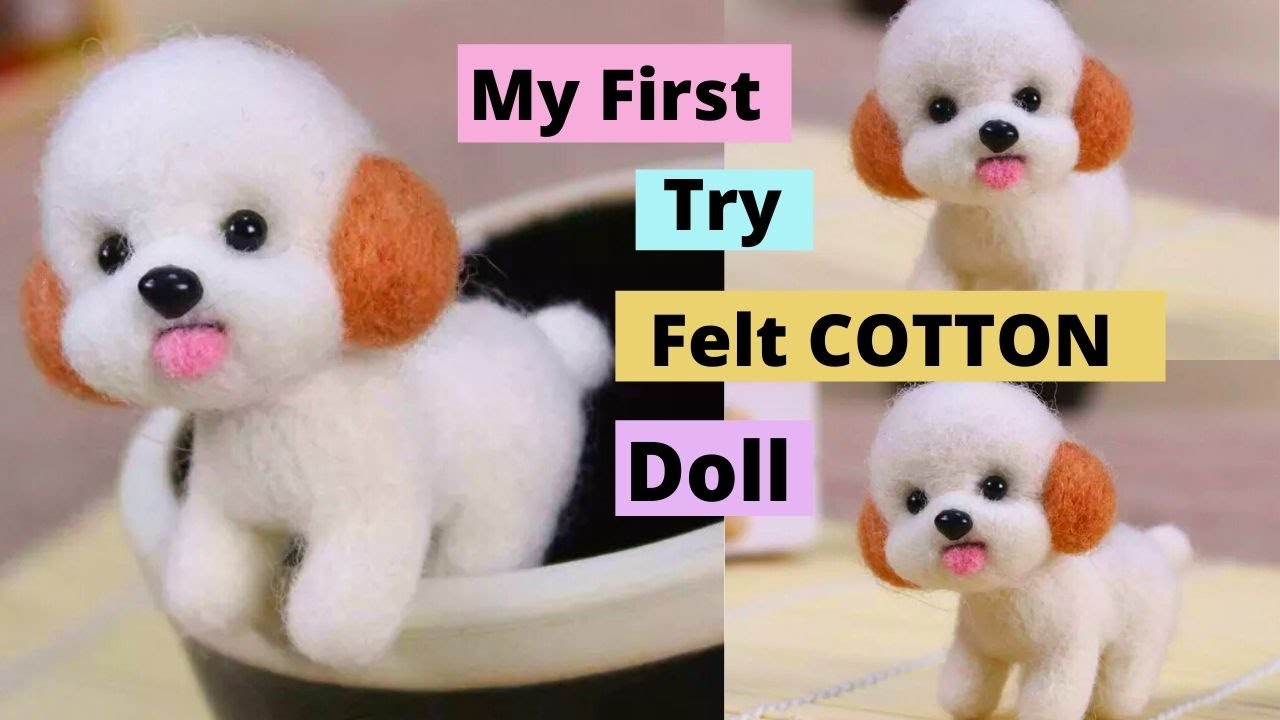 Download Doll Making From Felt Cotton / Very Easy Needle Felt Cotton Doll Making