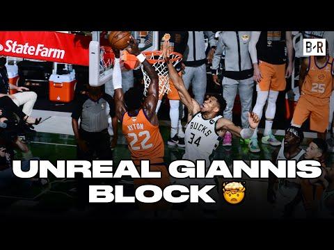 This Giannis Block On Deandre Ayton Had NBA Twitter Going WILD