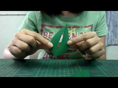 วิธีพับและตัดใบไม้กระดาษ