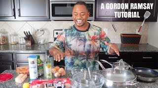 I Tried Following A Gordon Ramsay Cooking Tutorial | Eggs Benedict | Alonzo Lerone