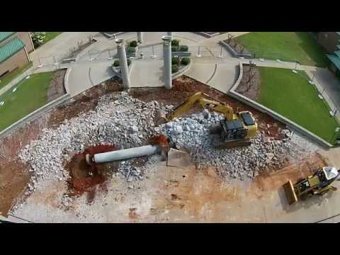 Houston County High School  Front Demo by Parrish Construction