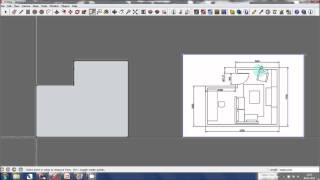Sketchup Tutorial - Creating A 3d Model From A Floor Plan