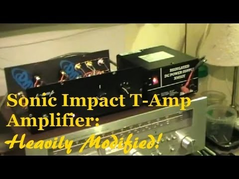Verwonderend Sonic Impact Tripath T-Amp Amplifier - Heavily Modified! - YouTube WQ-58
