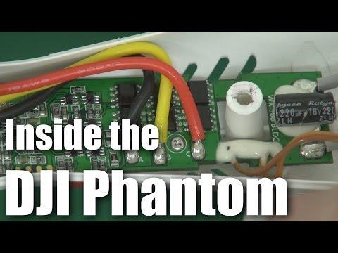 Inside the DJI Phantom multirotor (drone)