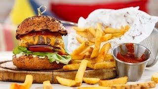 Домашний самый вкусный чизбургер