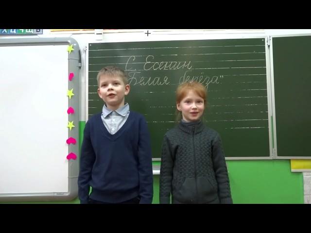 Изображение предпросмотра прочтения – «2 класс» читает произведение «Белая береза» С.А.Есенина