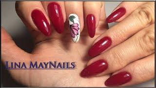 видео Маки на ногтях пошагово: 12 фото дизайна ногтей с красным цветком