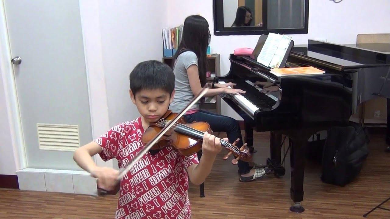 20150320 子恒 小提琴比賽 賽前練習 Concert in A moll (百分音樂學苑 ─ 臺南 音樂教室) - YouTube
