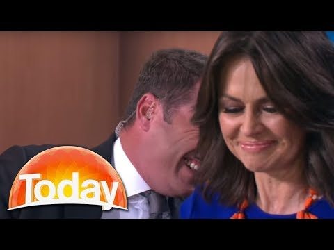 """Today Show slip-up """"Get out of my pants"""""""