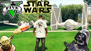 STAR WARS EN LOS SANTOS !! GTA 5 PC MOD NAVES ESPACIALES!! GTA V MOD Makiman