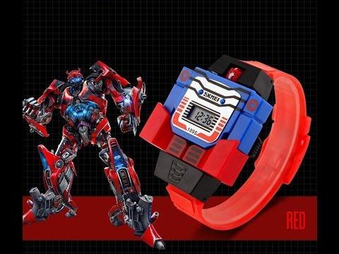 824b6721 Детские наручные часы трансформер робот SKMEI 1095. Купить на AliExpress.  US $5.00 (~330 руб.)