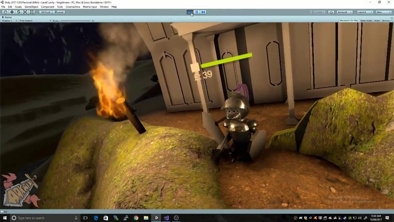 VR Knight Game Intro Scene WIP
